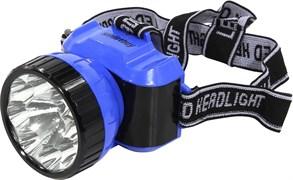 Фонарь налобный Smartbuy SBF-25-B, светодиодный, аккумулятор 4V 0.5 Ah, 2 режима, зарядное устройство 220В, пластиковый, синий