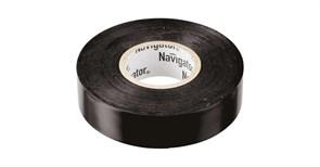 Изолента Navigator NIT-B19-20/BL 71110, 19ммx20м, ПВХ, черная