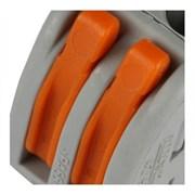 Клемма соединительная WAGO 222-412, 2-проводная, 0.08x2.5мм2, 400В, 32A, без пасты,  с рычажком