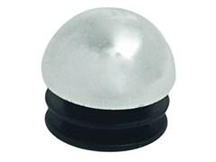 Заглушка для трубы системы Joker, 25мм, сферическая, пластиковая, хром