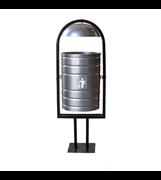 Урна для мусора  уличная УЦМ-25 Эко, 340x295x900мм, 25л, опрокидывающаяся, металлическая