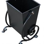 Урна для мусора  уличная Волна, 480x380x360мм, 27л, кованая, металлическая, черная