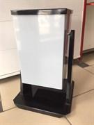 Урна для мусора  уличная Д-20, 360x360x540мм, 20л, опрокидывающаяся, металлическая, белая