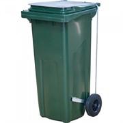 Контейнер для мусора МКТ-120, 480x550x997мм, 120л, пластиковый, с крышкой, на 2 колесах