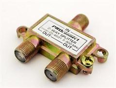 Разветвитель-сплиттер Rexant 05-6031 на 2TV, 5-900MHz, Proconnect, телевизионный, желтый