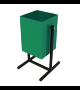 Урна для мусора  уличная УМ-1/20, 340x190x600мм, 20л, опрокидывающаяся, металлическая