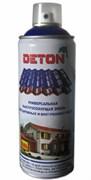 Краска-эмаль Аэрозоль DETON, акриловая, RAL9005 Черный, 520мл
