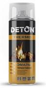 Краска-эмаль термостойкая DETON, алкидная, белая, 520мл