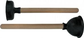 Вантуз резиновый большой 150x400мм, деревянная ручка