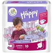 Подгузники гигиенические для детей BABY HAPPY Junior 5, 12-25кг, 10шт