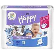 Подгузники гигиенические для детей Bella baby Happy Midi 3, 5-9кг, 13шт