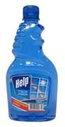 Средство для мытья окон Help/Хелп, сменный блок/запаска, 500мл