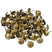Гвозди  мебельные декоративные, золото, коробка 75г