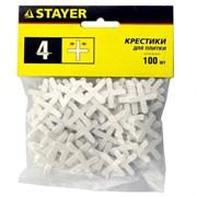 Крестики STAYER для кладки кафельной плитки, 4мм, упаковка 100шт