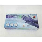 Перчатки ADM HR002G, латексные, прочные, размер M, упаковка 50шт(25пар), синие