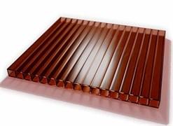Сотовый поликарбонат 4x2100x12000мм, коричневый, на метраж