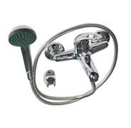 Смеситель в ванную 47009 САТУРН, шаровый, однорычажный, короткий нос (излив), с дивентором на корпусе