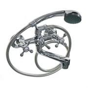 Смеситель в ванную 87142-08 MYFAIR, металлокерамика, с шаровым переключением, двуручный, короткий нос (излив)