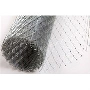 Сетка штукатурная, цельно-просечно-вытяжная сварная ЦПВС, 20x1.5x0.5мм, 1x6м (6м2), оцинкованная