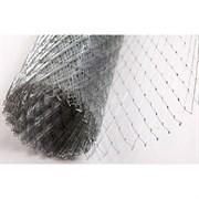 Сетка штукатурная, цельно-просечно-вытяжная сварная ЦПВС, 60x2x0.7мм, 1.25x10м (12.5м2), оцинкованная