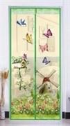 Штора/сетка Silo Бабочки, противомоскитная на дверь, 100x210см, на магнитах, в коробочке