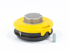 Катушка триммерная DENZEL, полуавтомат, лёгкая заправка лески, гайкаМ10x1.25мм, винтМ10-М10, алюминиевая кнопка