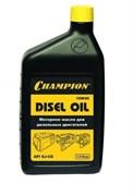 Масло Champion 10W-40, дизельное, для четырехтактных двигателей, минеральное, 1л