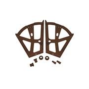 Обувной механизм, 290x190мм, откидной, коричневый