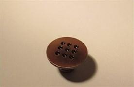 Ручка-кнопка РК 2864, накладная, медь G610
