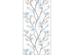 Панель ПВХ 2700x250мм Цветущий сад 644, голубая, декоративная