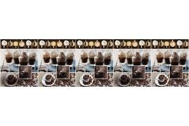 Фартук кухонный Гляссе, 3000х600х1.5мм, пластик АВС, термопечать