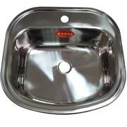 Мойка кухонная врезная FABIA 494706, 490x470x160мм, под маленький сифон, без сифона, нержавеющая сталь
