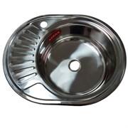 Мойка кухонная врезная FABIA 574506R, 570x450x160мм, правая, под маленький сифон, без сифона, нержавеющая сталь