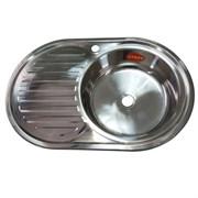 Мойка кухонная врезная FABIA 775006R, 770x500x160мм, правая, под маленький сифон, без сифона, нержавеющая сталь