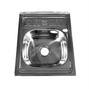 Мойка кухонная накладная FABIA 62272, 600х500x160мм, с большим сифоном, с переливом, нержавеющая сталь