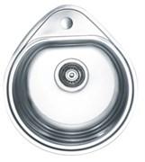Мойка кухонная врезная Haiba HB 4450, 500x440x180мм, круглая, нержавеющая сталь, глянцевая