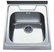 Мойка кухонная накладная Haiba HB 5060-06, 600x500x160мм, квадратная, нержавеющая сталь, глянцевая