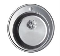 Мойка кухонная врезная Haiba HB S510, 510x180мм, круглая, нержавеющая сталь, матовая