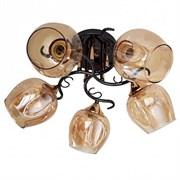 Люстра подвесная 5-рожковая 31948/5 FGD+BK LNGSH19, диаметр 500мм, 5х40W, E27, золото/черный