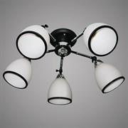 Люстра подвесная 5-рожковая 31951/5 CR+BK LNGSH19, диаметр 560мм, 5х40W, E27, хром/черный