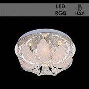 Люстра подвесная 5781/400 LED-RGB, диаметр 400мм, 4х60W, E14, ПДУ, хром