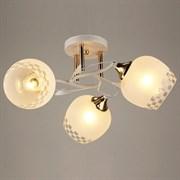 Люстра подвесная 3-рожковая C0651/3 WT+FG, диаметр 530мм, высота 250мм, 3x40W, E27, белый/золото