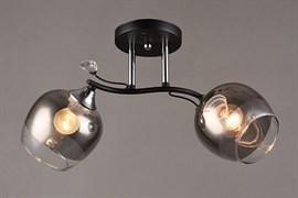 Люстра подвесная 2-рожковая C1037/2 BK+CR, диаметр 490мм, высота 240мм, 2х60W, E27, чёрный/хром