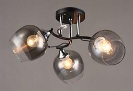 Люстра подвесная 3-рожковая C1037/3 BK+CR, диаметр 515мм, высота 240мм, 3х60W, E27, чёрный/хром