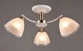 Люстра подвесная 3-рожковая C1092/3 FGD+WT, диаметр 585мм, высота 250мм, 3х60W, E27, белый/золото