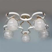 Люстра подвесная 5-рожковая D2206/5 FGD+WT XLD19, 5х60W, E27, золото/белый