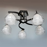 Люстра подвесная 5-рожковая D2212/5 CR+BK XLD19, диаметр 590мм, 5х60W, E27, хром/черный