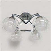 Люстра подвесная 4-рожковая D2218/4 CR+GR, диаметр 480мм, 4х60W, E27, хром/серый