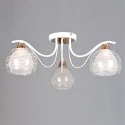 Люстра подвесная 3-рожковая STD15135/3 WT+FG ST18, диаметр 630мм, высота 220мм, 3х60W, E27, белый/золото