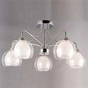 Люстра подвесная 5-рожковая STD15198/5 CR, диаметр 650мм, высоат 300мм, 5х60W, E27, хром